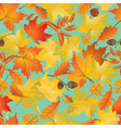 autumn leaves seamless 380 vector image vector image