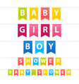 baby shower garlands set vector image