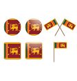 Badges with flag of Sri Lanka vector image