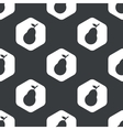 Black hexagon pear pattern vector image