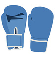Blue boxing gloves vector image vector image
