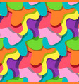 bright colorful splashes pattern in memphis style vector image