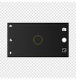 camera screen mobile cellphone vector image vector image
