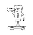 cartoon businessman icon image vector image