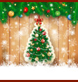 Christmas background with fir and tree