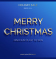 christmas sale up to 50 percent blue banner vector image vector image