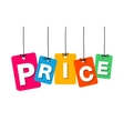 colorful hanging cardboard Tags - price vector image vector image