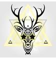 Deer head Tribal pattern vector image