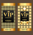 design invitations to vip party gold vector image vector image