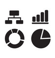 diagram graph icon design vector image