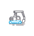 digging machinery linear icon concept digging vector image vector image