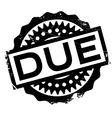 Due rubber stamp