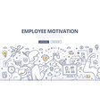 Employee Motivation Doodle Concept vector image vector image