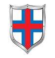 Faroe Islands flag button vector image