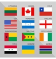 flags world flat set number 01 vector image