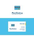 flat credit card logo and visiting card template vector image vector image