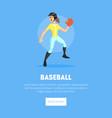 girl playing baseball weaing sports uniform banner