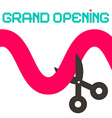 Grand Opening Ribbon with Scissors vector image