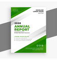 green annual report business brochure template vector image vector image