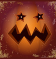 halloween cartoon scary pumpkin with face vector image