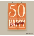 Happy birthday poster card fifty years old