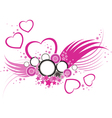 heart and wings vector image vector image