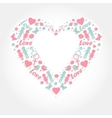 heart with love symbols vector image