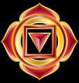 hindu chakra muladhara medallion vector image vector image