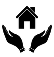 Home in hand icon vector image vector image