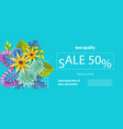 horizontal paper tropical flower sale banner vector image