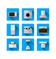 Icons for home equipment vector image