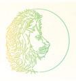 lion line symbol vector image