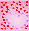 love greeting card with of hearts for wishes vector image vector image
