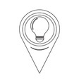 map pointer bulb icon vector image