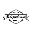 mexican independence day greeting emblem vector image vector image