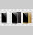 modern black white and gold smartphone isolated vector image