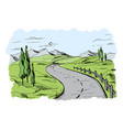 mountain road vector image vector image