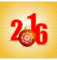 New Year Yellow Background vector image