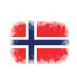 Norway flag symbol halftone vector image vector image