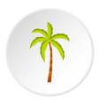 palm tree icon circle vector image vector image