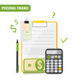 personal finance budget planning concept vector image vector image
