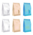 plastic and paper bag vector image
