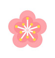 plum blossom chinese new year related flat icon vector image vector image