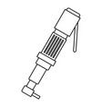 pneumatic screwdriver icon outline vector image vector image