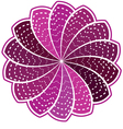 Purple flower on a white background vector image