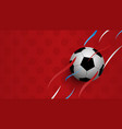 realistic football on red background football vector image vector image