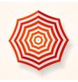 Red Striped Sun Umbrella vector image