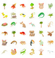 sand plant icons set cartoon style vector image vector image