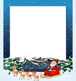 santa christmas winter frame vector image