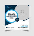 school admission social media post design template